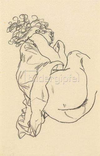 Egon Schiele: Liegende. 1917