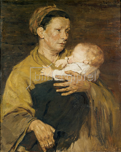 Max Liebermann: Mutter und Kind