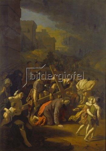 Adriaen van der Werff: Die Kreuztragung Christi.