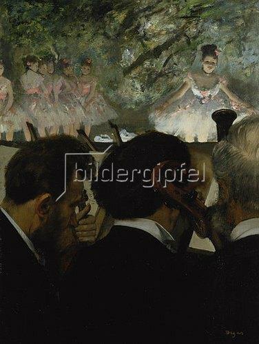 Edgar Degas: Musiciens a l'Orchestre. 1872