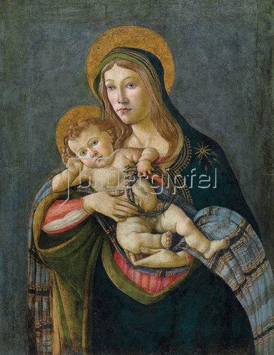 Sandro Botticelli: Madonna und Kind mit der Dornenkrone und drei Nägeln.