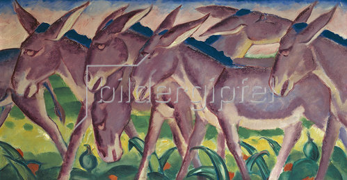Franz Marc: Eselsfries. 1911.