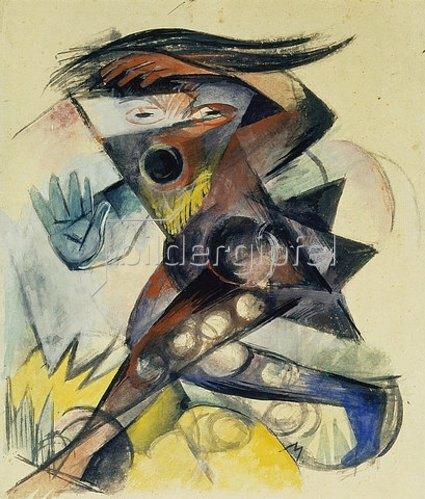 Franz Marc: Caliban. Figurine für Shakespeares Sturm. 1914
