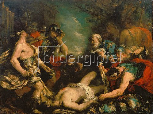 Francesco Guardi: Alexander der Grosse an der Leiche des Perserkönigs Darius.