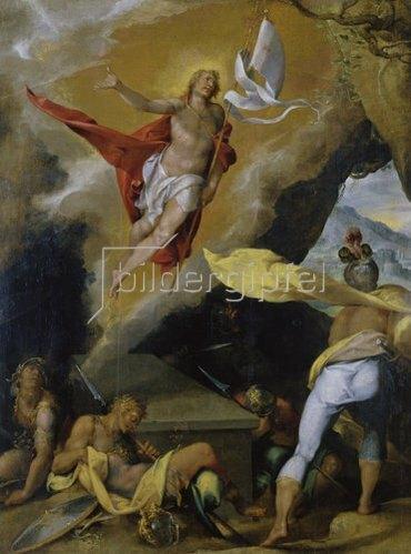 Bartholomäus Spranger: Auferstehung Christi. 1576.