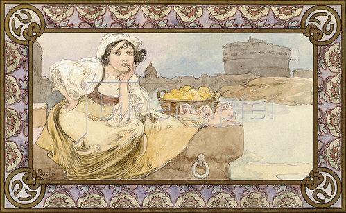 Alfons Mucha: Italienerin