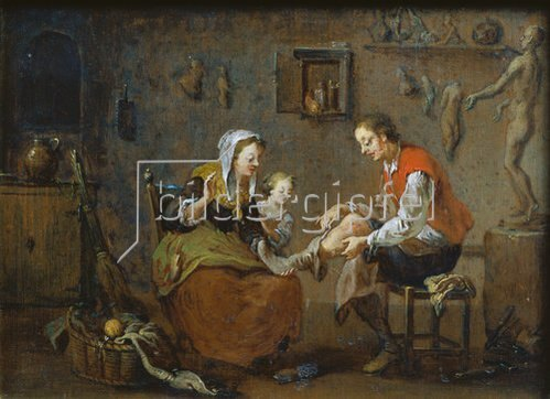 Norbert Grund: Im Bildhauer-Atelier. 1752/54.