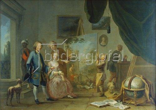 Norbert Grund: Besuch im Maler-Atelier. Vor 1767.