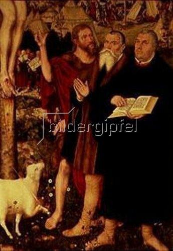 Lucas Cranach d.Ä.: Cranach Altar der Peter-u.Paul-Kirche in Weimar. Luther, Cranach u.Johannes unte