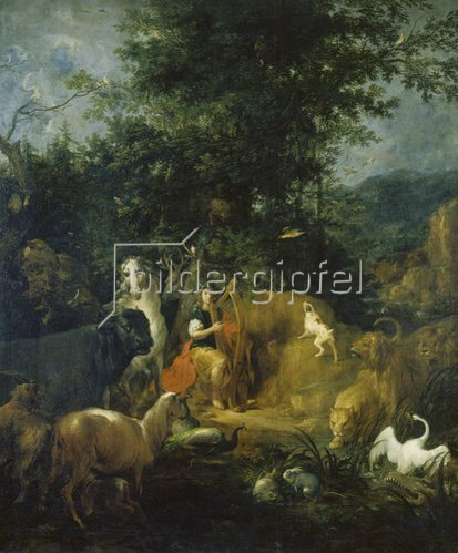Václav Vavrinec Reiner: Orpheus spielt vor den Tieren. Vor 1720.