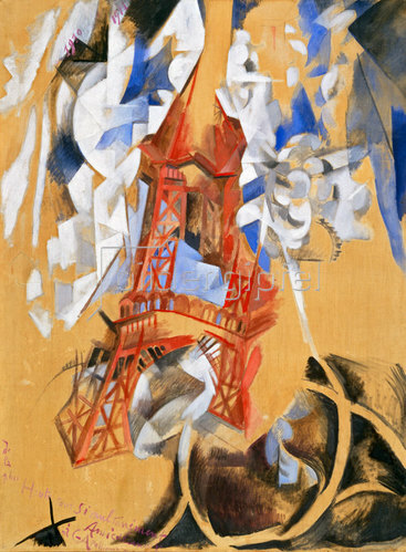 Robert Delaunay: Der Eiffelturm (La Tour Eiffel). 1910/11