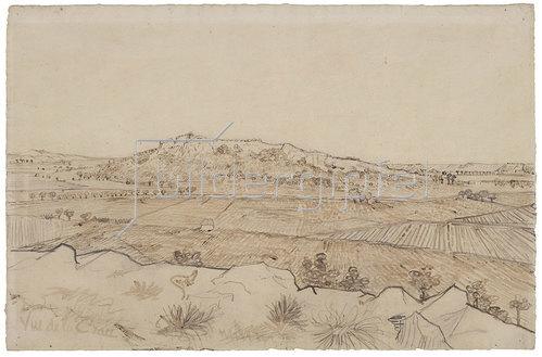 Vincent van Gogh: Vue de la Crau. Ansicht der Crau.
