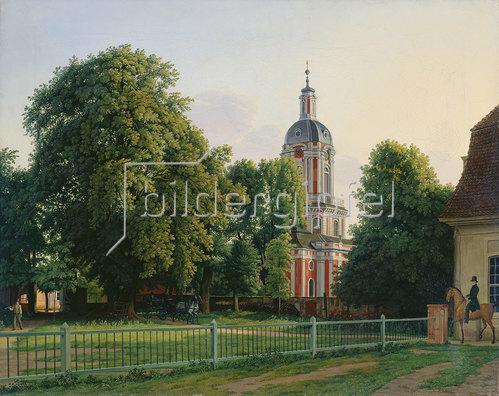 Johann Erdmann Hummel: Kirche im Park von Schloß Buch