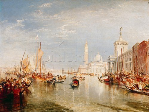 Joseph Mallord William Turner: Venedig, Dogana und S. Giorgio Maggiore.