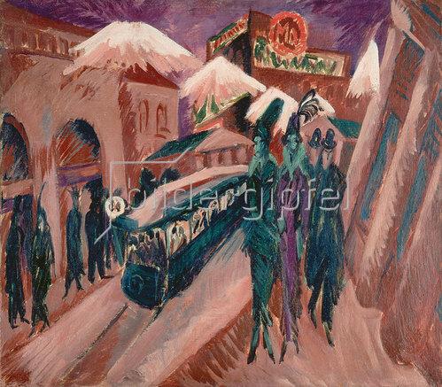 Ernst Ludwig Kirchner: Leipziger Strasse mit elektrischer Bahn 1914