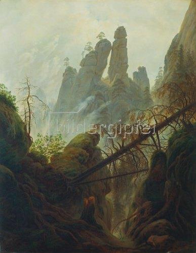 Caspar David Friedrich: Felsenschlucht. 1822/23