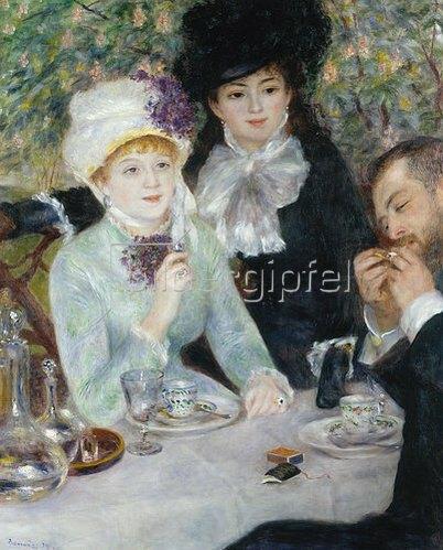 Auguste Renoir: Am Ende des Frühstücks (La fin du Déjeuner). 1879