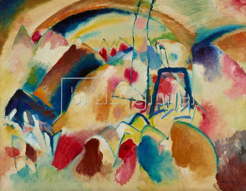 Wassily Kandinsky: Landschaft mit Kirche (Landschaft mit roten Flecken I). 1913