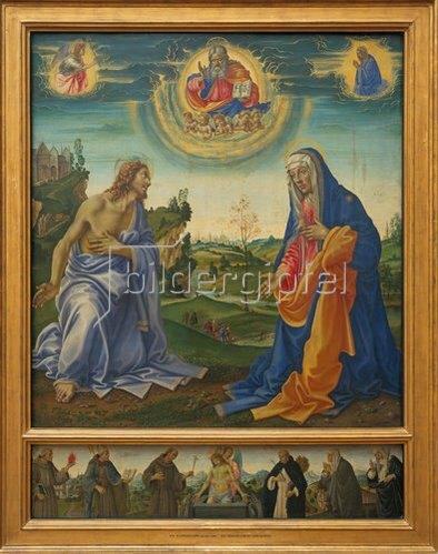 Filippino Lippi: Die Fürbitte Christi und Maria.