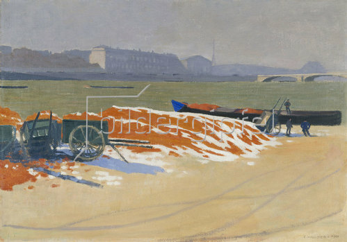 Felix Vallotton: Quai de Seine. 1901