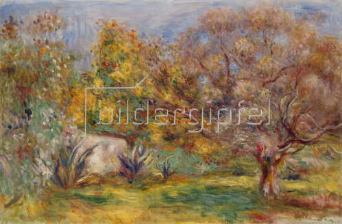 Auguste Renoir: Garten mit Olivenbäumen (Jardin d'oliviers). Um 1910