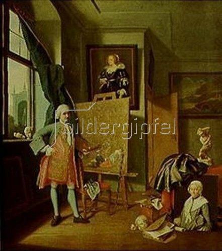Peter Jakob Horemans: Selbstbildnis im Atelier.