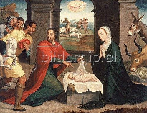 Juan Correa de Vivar: Die Anbetung der Hirten. 1550/60
