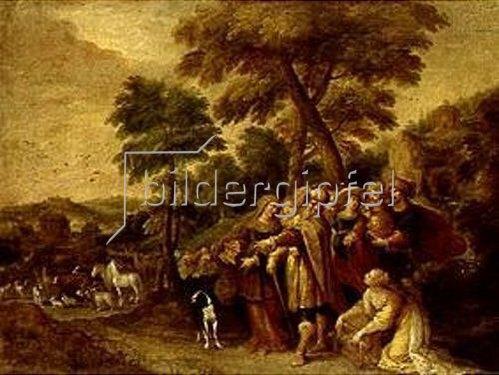 Frans Francken II.: Noah und seine Familie auf dem Wege zur Arche.