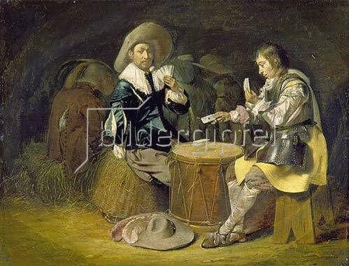 Wilhelm Cornelisz Duyster: Kartenspielende Offiziere.