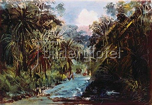 Johann Moritz Rugendas: Eine Schlucht auf dem Wege von Jalapa nach Veracruz. Aquarell, Anfang 1830-er