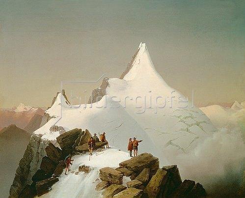 Markus Pernhart: Der Großglockner im Schnee.