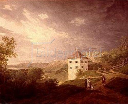 Max Joseph Wagenbauer: Das alte Brunnhaus am Gasteig (oder: im Brunntal). Um 1806.
