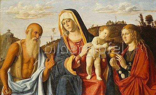 Cima da Conegliano: Maria mit dem Kinde und den hll.Maria Magdalena und Hieronymus.