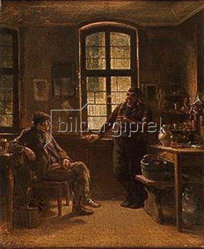 Anton Burger: Der Adlerwirt Renker in Cronberg. 1861.
