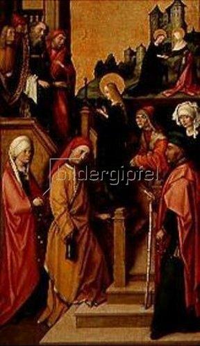Hans Holbein d.Ä.: Tempelgang Mariae. Weingartner Altar im Dom zu Augsburg.