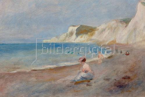 Auguste Renoir: Am Strand von Varengeville. Um 1880