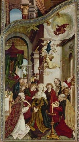 Martin Schaffner: Wettenhausener Altar. Re.Flügel innen: Tod Mariae. 1523.