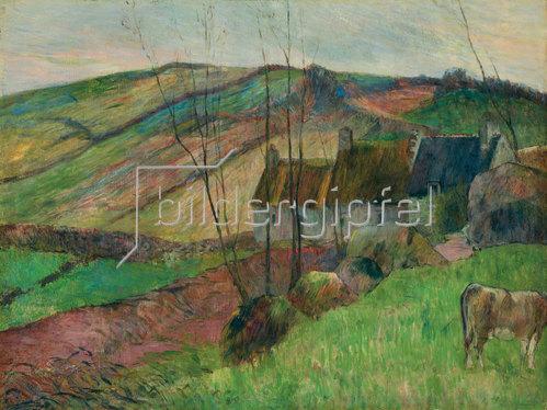 Paul Gauguin: Bauernhäuser am Fuß des Mont Sainte-Marguerite. 1888