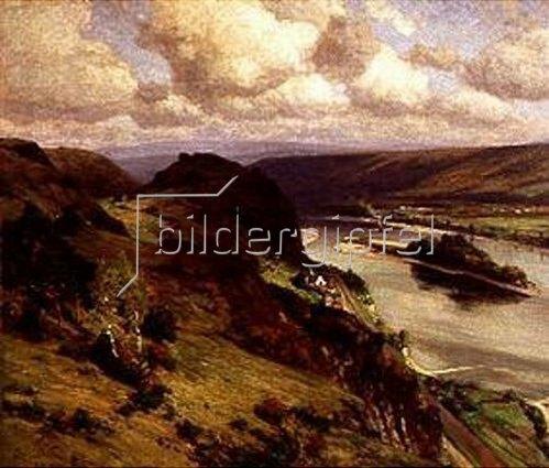 Fritz von Wille: Die Ruine Hammerstein am Rhein. 1900.