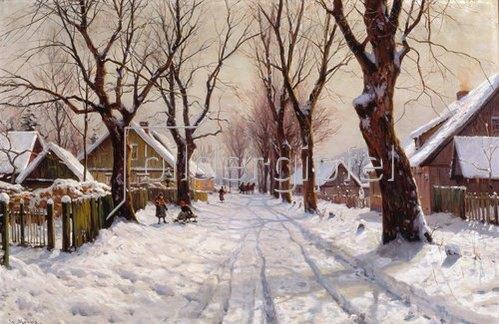 Walter Moras: Winter im Dorf.