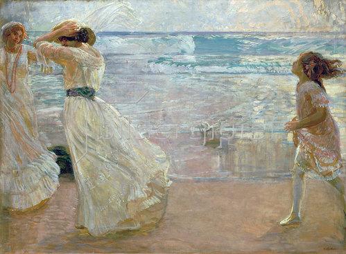 Erich Kuithan: Am Strand 1906