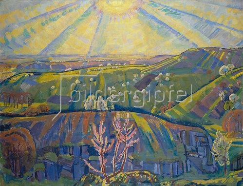 Erich Kuithan: Frühlingssonne, Erinnerung an den Bodensee 1915
