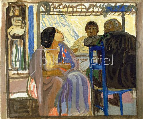 Erich Kuithan: Vor der Taverne 1910