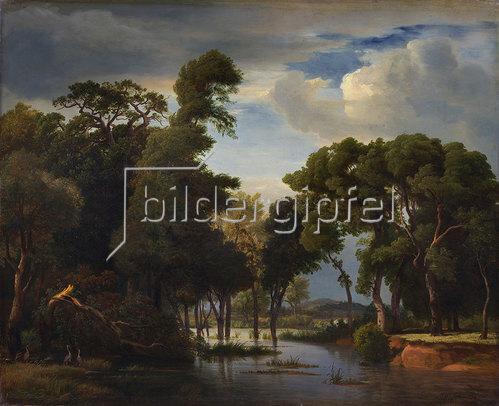 Johann Wilhelm Schirmer: Sumpflandschaft 1854.