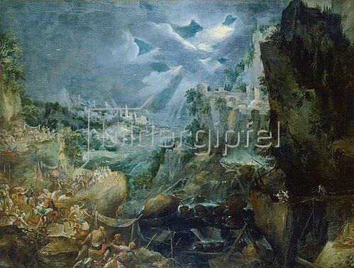 Frederick van Valckenborch: Schlacht bei einer Hafenstadt. Um 1605.