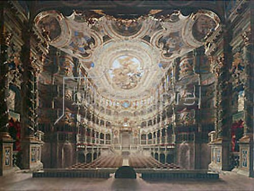 Gustav Bauernfeind: Innere Ansicht des Markgräflichen Opernhauses Bayreuth. 1879.