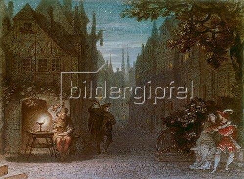 Michael Echter: Aufführungsbild von R. Wagners Meistersingern, München 1868