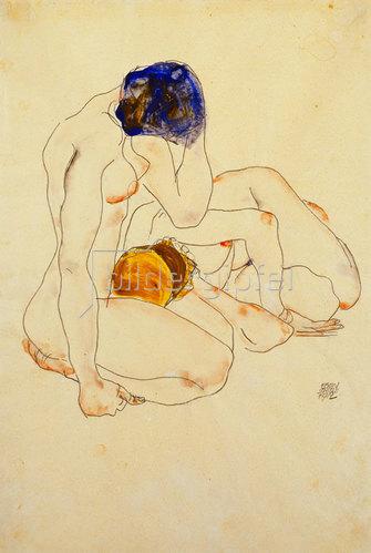 Egon Schiele: Zwei Freundinnen. 1912