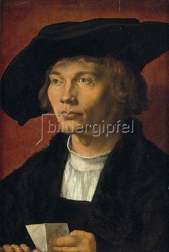 Albrecht Dürer: Bildnis eines jungen Mannes (Bernhard von Reesen?). 1521
