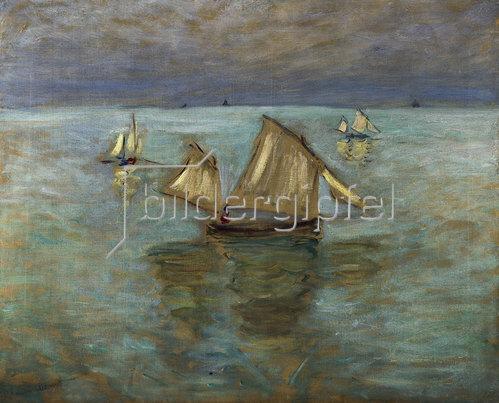 Claude Monet: Fischerboote bei Pourville